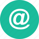 at, email, nav, navigate, navigation, sign, ui icon