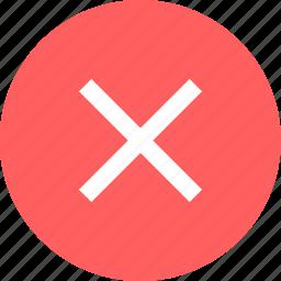 cross, delete, denied, x icon