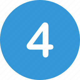 four, menu, nav, navigation, number, ui icon