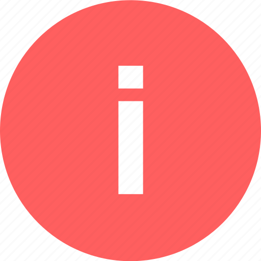 i, info, information, more icon