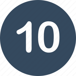 menu, nav, number, ten, ui icon