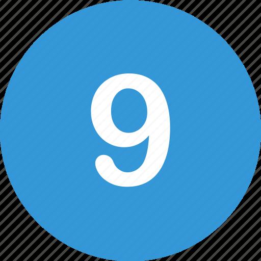 menu, nav, nine, number, ui icon