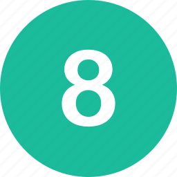 eight, menu, nav, navigation, number, ui icon