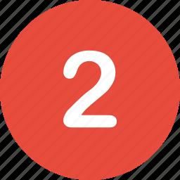 menu, nav, navigation, number, two, ui icon