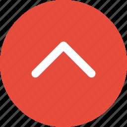 arrow, menu, nav, navigation, point, ui, up icon