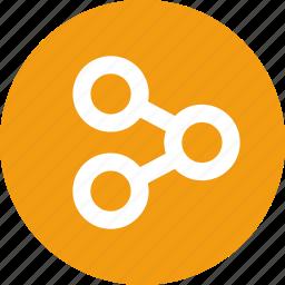 connection, data, menu, nav, navigation, share, ui icon