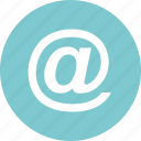 address, email, mail, sign icon