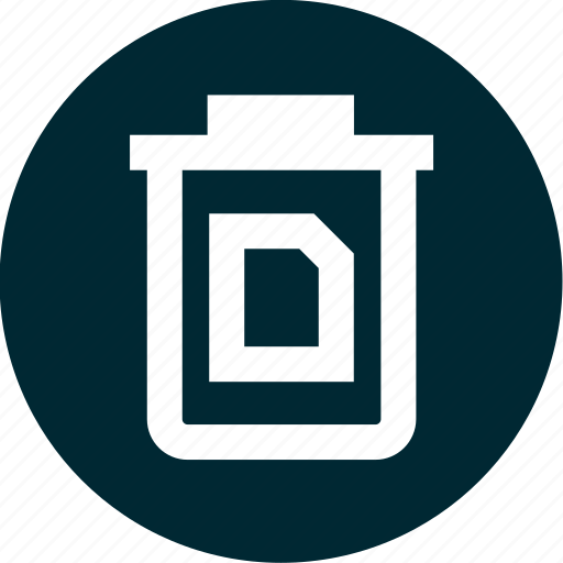 can, document, file, trash icon