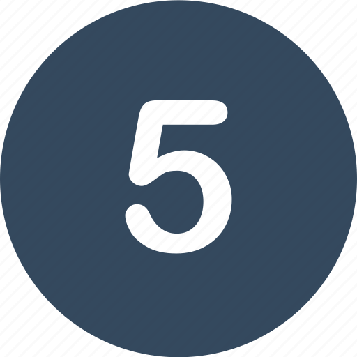 five, menu, nav, navigation, number, ui icon