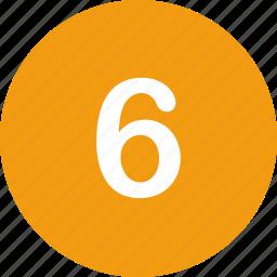 menu, nav, navigation, number, six, ui icon
