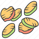 appetizer, eggplant, fresh, grilled, roasted, vegetable, zucchini icon