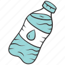 bottle, bubble, healthy, mineral, plastic, refreshment, water icon