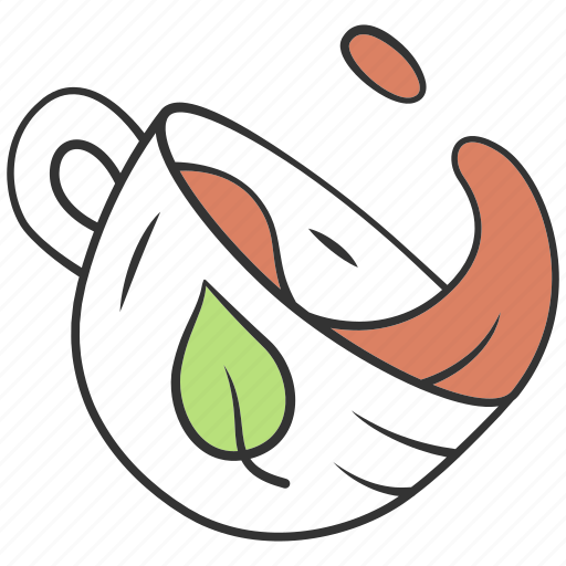aroma, cup, drink, herbal, hot, leaf, liquid icon
