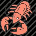 delicious, fish, food, healthy, lobster, sea, seafood icon