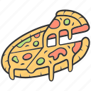 cheese, food, italian, pepper, pizza, snack, traditional icon