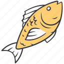 aquatic, dinner, fish, food, sea, seafood, water icon