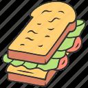 bread, bun, cheese, dinner, fast, sandwich, slice