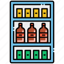 shelves, stocked, well icon