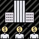 acquisition, financiers, informal investor, investors, management, merger, partnerships icon