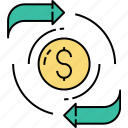 acquisition, business marketing, currency changing, money exchange, money gift, money seo, money trading icon