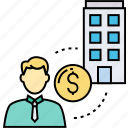 acquisition, asset, business developer, financial investor, merger, working asset, working manager icon