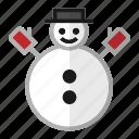 christmas, holiday, snow, snowman, winter icon