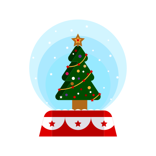 Christmas, decorations, globe, merry, snow, tree icon - Free download