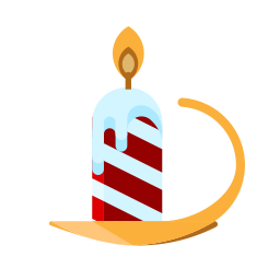 candle, christmas, light, merry icon