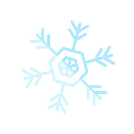 christmas, flake, merry, snow icon