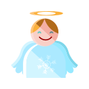 angel, christmas, heaven, merry, santa, smile icon