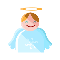 angel, christmas, heaven, merry, santa, smile icon