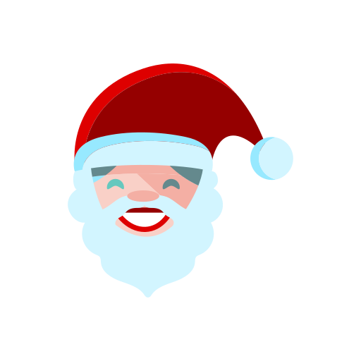 christmas, claus, hat, merry, red, santa, smile icon