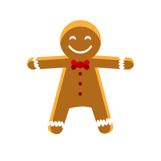 christmas, cookie, gingerbread, man, sweets, treat icon