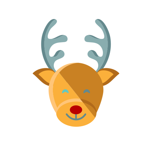 christmas, merry, nose, red, reindeer, rudolph icon