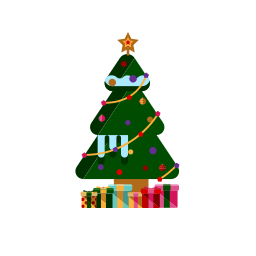 christmas, decoration, gifts, merry, ornamanets, presents, tree icon