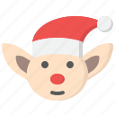 christmas, elf, merry, winter, xmas icon