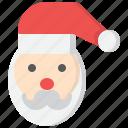 christmas, claus, merry, santa, snow, winter, xmas