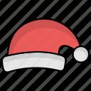 santa, christmas, christmas hat, santa hat icon