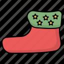 christmas, sock, socks