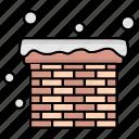 chimney, christmas, winter