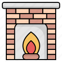 fire, fire place
