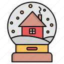 decoration, home, house, snowglobe