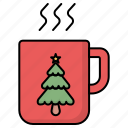 christmas, cup, drink, hot drink