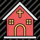 christmas, cross, home, house
