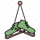 boot, christmas, ice, skating, snow, winter icon
