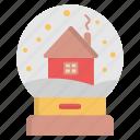 decoration, house, snowglobe