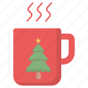 christmas, cup, drink, hot drink icon