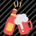beer, celebration, christmas, drink, wine, winter