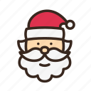beard, christmas, hat, merry christmas, new year, santa, santa claus icon