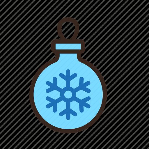 ball, christmas, decoration, merry christmas, new year, ornament, snowflake icon
